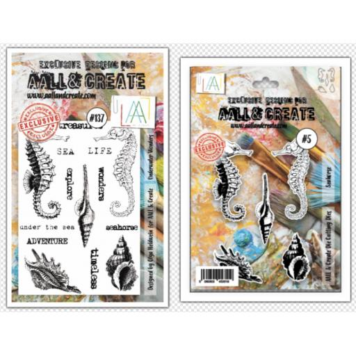 Aall & Create Clear Stamp & Dies Seahorse & underwater wonders