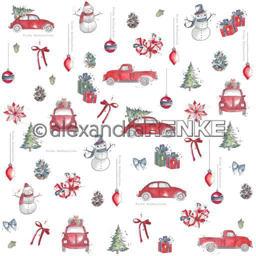 "alexandraRENKE - Design paper 12"" x 12"" Floral Christmas Car Rapport 10.2015"