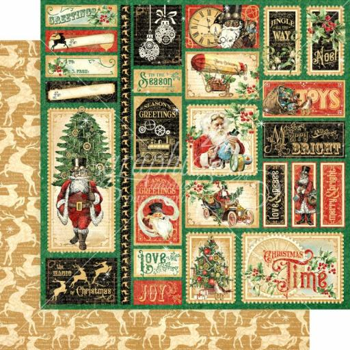 Graphic 45 -Christmas Time- Jingle all the Way 12x12 Paper