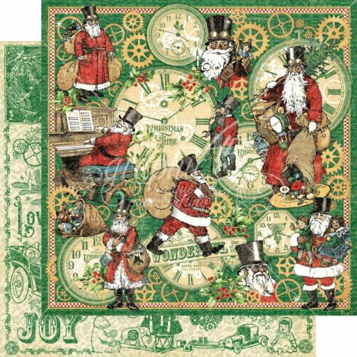 Graphic 45 -Christmas Time- Here Comes Santa Clause 12x12 Paper