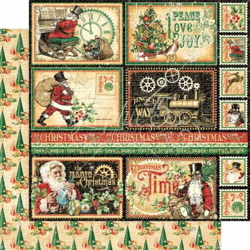 Graphic 45 -Christmas Time- North Pole Express 12x12 Paper