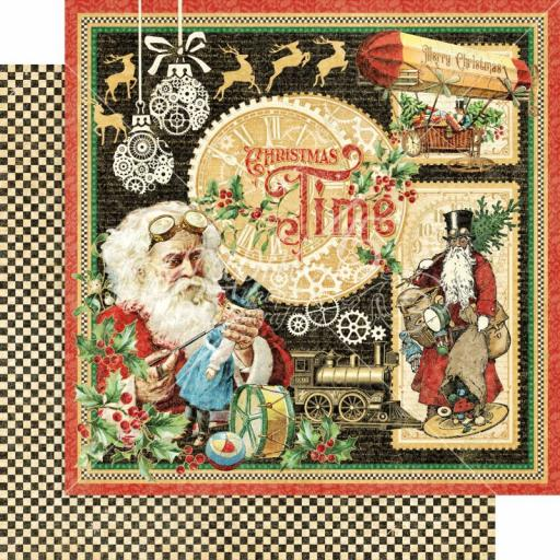 Graphic 45 -Christmas Time- Christmas Time 12x12 Paper