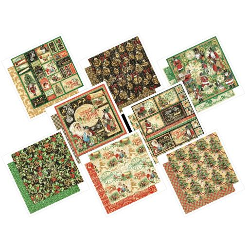Special Offer - Graphic 45 -Christmas Time- 12 x 12 ALL 8 Papers