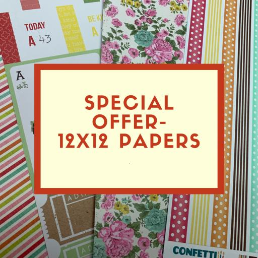 Special Offer -Grab Bag of 10 mixed 12 x12 papers