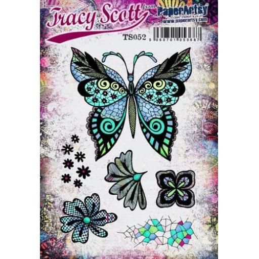 PaperArtsy - Tracy Scott 052 (A5 set, trimmed, on EZ)