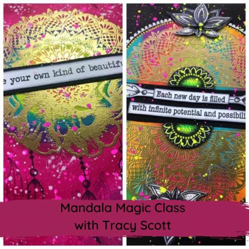 Saturday 6th March 10am-1pm Mandala Magic Online Class with Tracy Scott