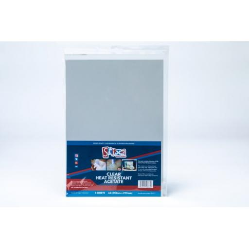 Stix2 - Clear Heat Resistant Acetate Sheets - 100 Micron thick - 210mm x 297mm (A4)