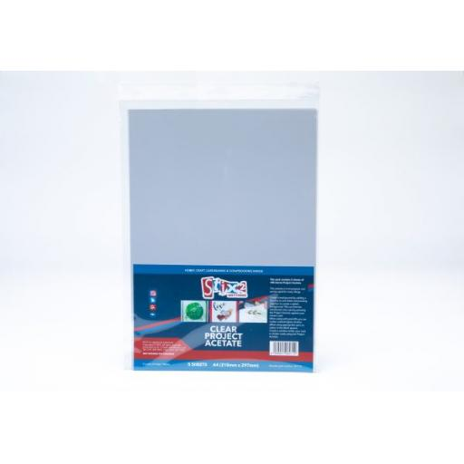 Stix2 - Clear Project Acetate Sheets - 100 Micron thick - 210mm x 297mm (A4)