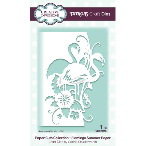 Creative Expressions Paper Cuts Edger Flamingo Summer Craft Die