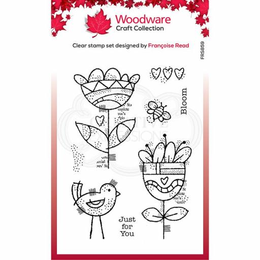 Woodware Clear Singles Blooming 4 in x 6 in Stamp