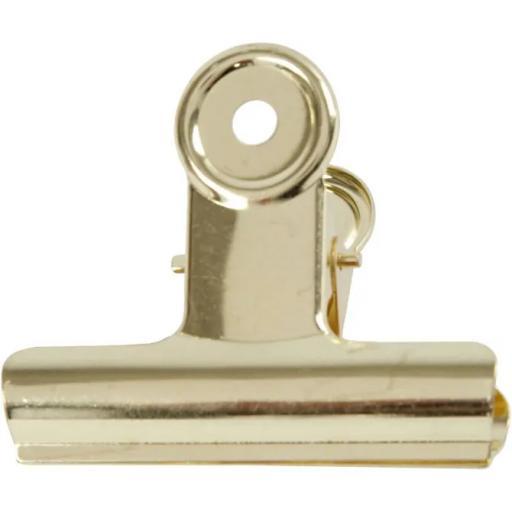 Brass Metal Bulldog Clip 7,5 cm