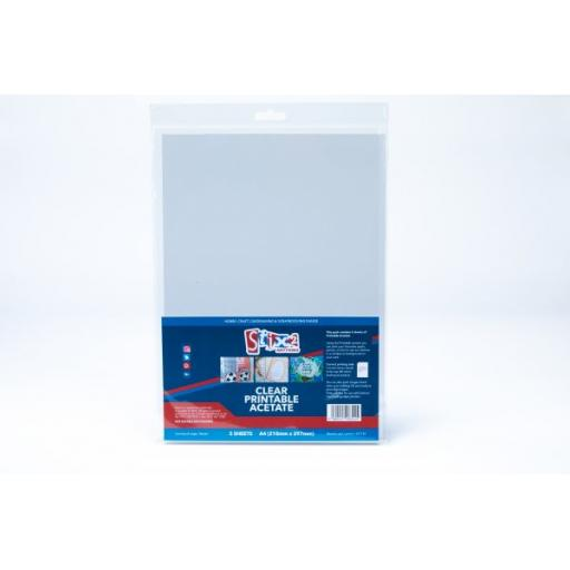 Stix2 - Clear Printable Acetate Sheets (inkjet Printer) - 100 Micron thick - 210mm x 297mm (A4)