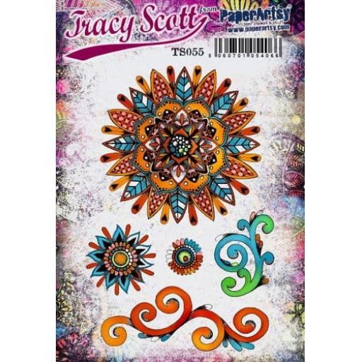 PaperArtsy - Tracy Scott 055 (A5 set, trimmed, on EZ)