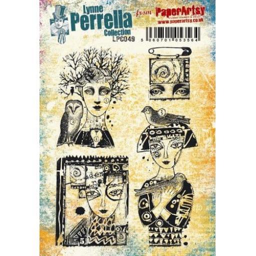 PaperArtsy - Lynne Perrella LPC049 (A5 set, cling-foam trimmed)