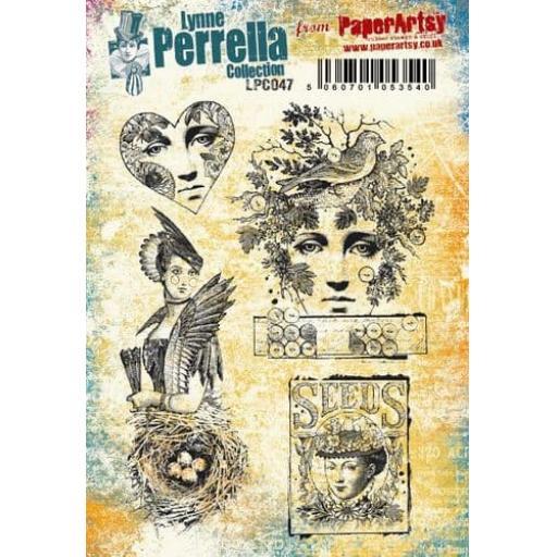 PaperArtsy - Lynne Perrella LPC047 (A5 set, cling-foam trimmed)