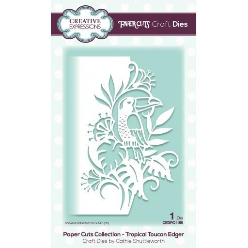 Creative Expressions Paper Cuts Edger Tropical Toucan Craft Die