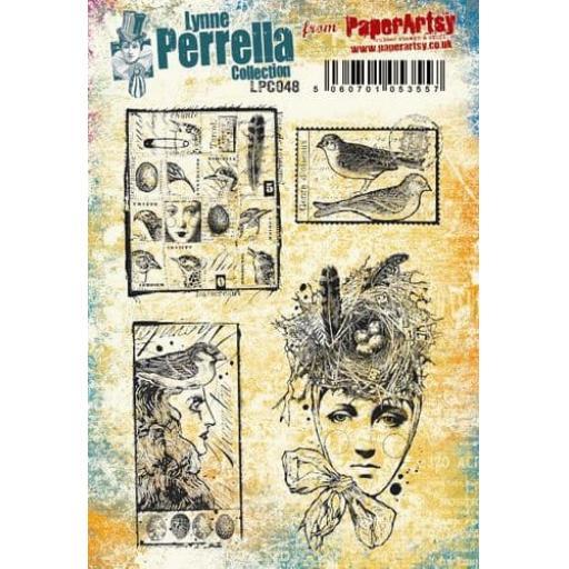 PaperArtsy - Lynne Perrella LPC048 (A5 set, cling-foam trimmed)