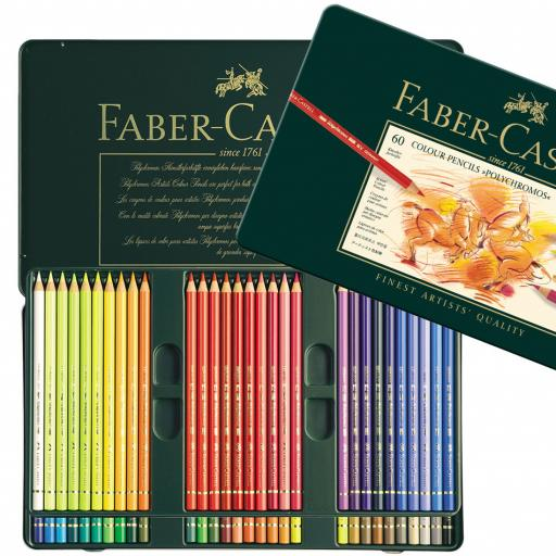 Faber-Castell Polychromos colour pencil, tin of 60