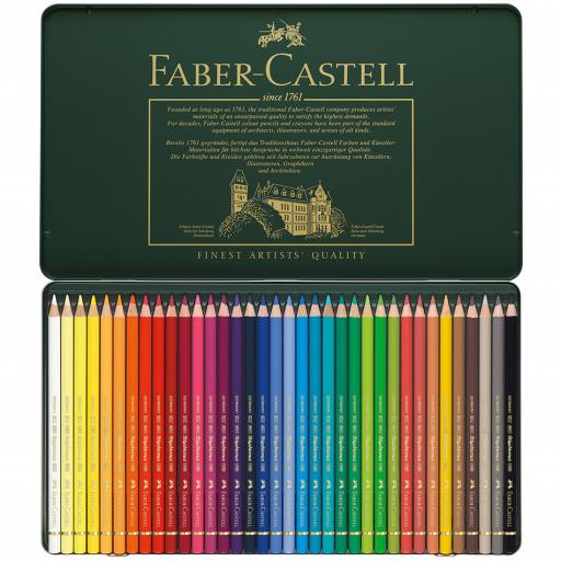 Faber-Castell Polychromos colour pencil, tin of 36