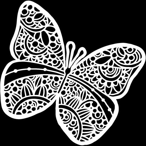 The Crafter's Workshop - Sunny Butterfly 6x6 Inch Stencil (TCW934s)