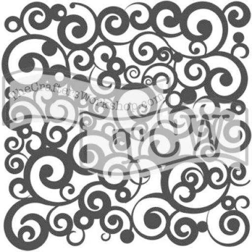 The Crafter's Workshop - Cosmic Swirl 6x6 Inch Stencil (TCW156s)