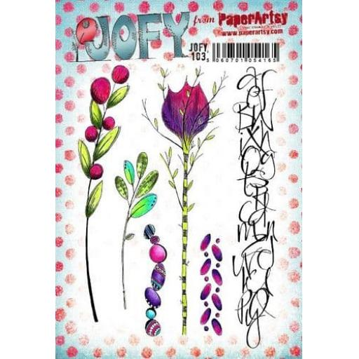 PaperArtsy - JOFY103 (A5 set, trimmed, on EZ)