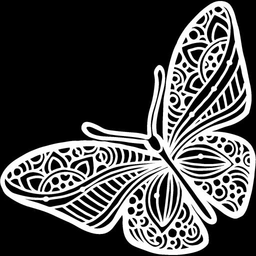 The Crafter's Workshop - Joyous Butterfly 6x6 Inch Stencil (TCW933s)