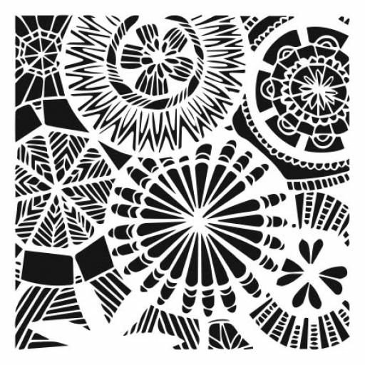 The Crafter's Workshop - Floral Spectacle 6x6 Inch Stencil (TCW838s)
