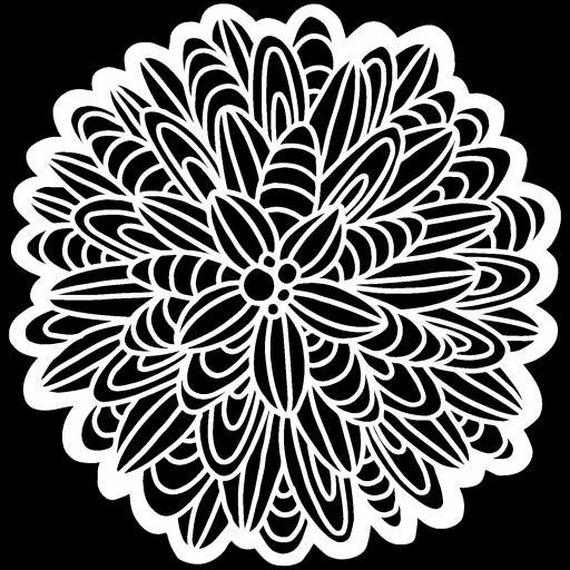 The Crafter's Workshop - Cactus Dahlia 6x6 Inch Stencil (TCW927s)