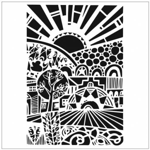 The Crafter's Workshop -Sun Valley 6x6 Inch Stencil (TCW840s)