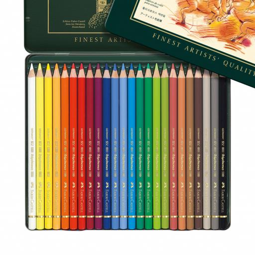 Faber-Castell Polychromos colour pencil, tin of 24