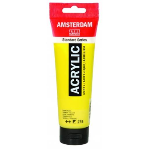 Talens Amsterdam Standard Acrylic Paint-120ml - Primary Yellow 275