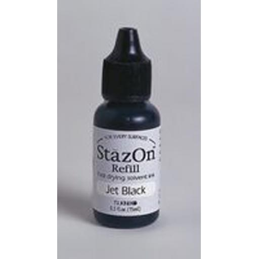 Jet Black StazOn Reinker