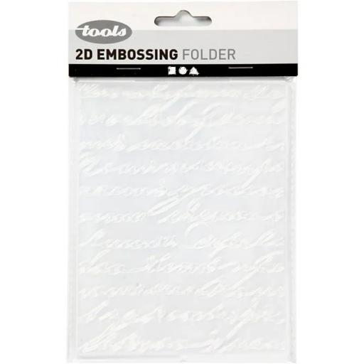 Embossing Folder - words
