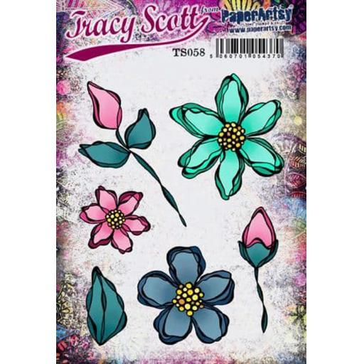 PaperArtsy - Tracy Scott 058 (A5 set, trimmed, on EZ)
