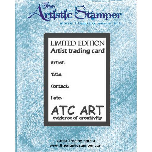 ATC 4 Rubber Stamp size 6cm x 9 cm ( cut and mounted on cling cushioning )