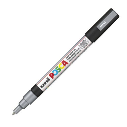Uni POSCA Marker Pen PC-3M Fine - Silver