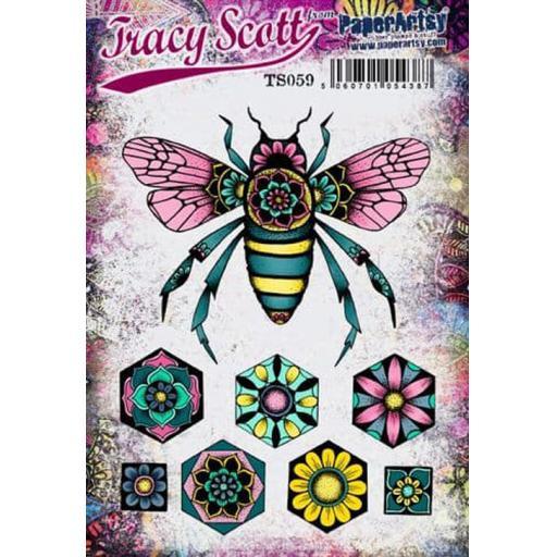 PaperArtsy - Tracy Scott 059 (A5 set, trimmed, on EZ)