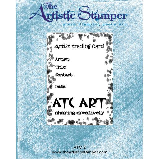ATC 2 Rubber Stamp size 6cm x 9 cm ( cut and mounted on cling cushioning )