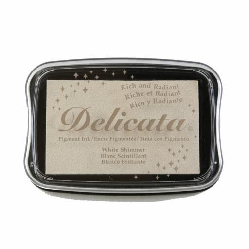 Delicata Ink Pad White Shimmer