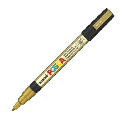 Uni POSCA Marker Pen PC-3M Fine - Gold