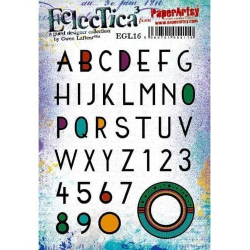 PaperArtsy - E³ Gwen Lafleur 16 (A5 set, trimmed, on EZ)