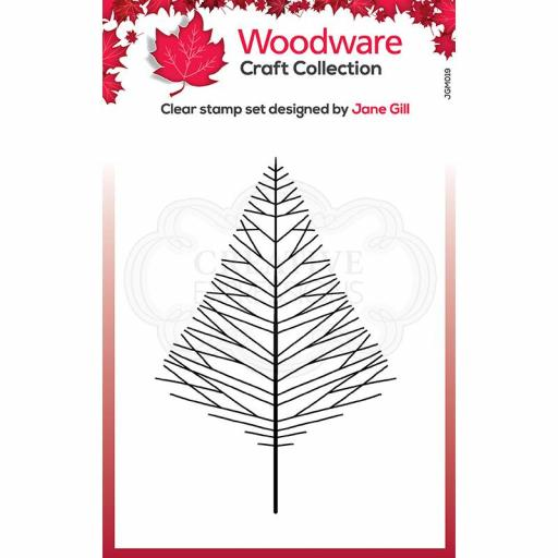 Woodware Clear Singles Mini Wide Twiggy Tree 3.8 in x 2.6 in Stamp