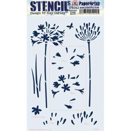 PaperArtsy - PA Stencil 263 Large {EKC}