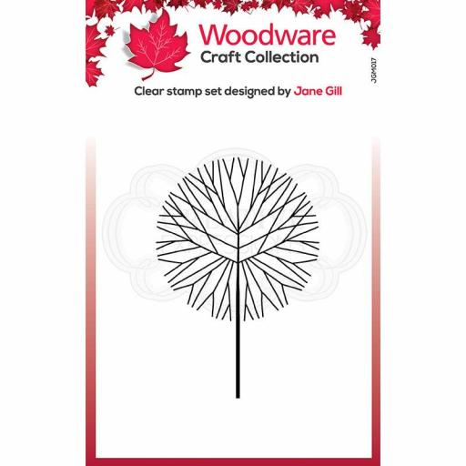 Woodware Clear Singles Mini Round Twiggy Tree 3.8 in x 2.6 in Stamp
