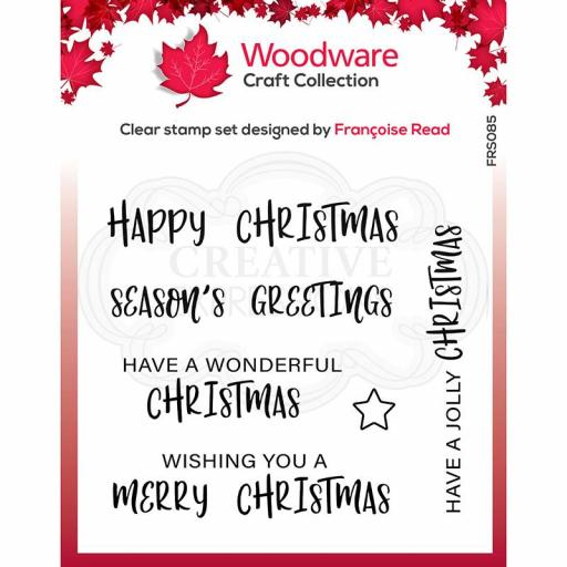 Woodware Clear Singles Useful Christmas 4 in x 4 in stamp by Francoise Read