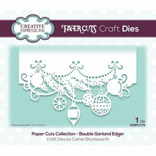 Creative Expressions Paper Cuts Bauble Garland Edger Craft Die