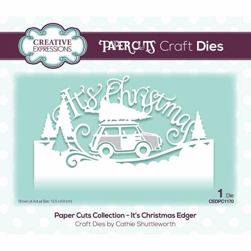 Creative Expressions Paper Cuts It's Christmas Edger Craft Die