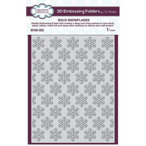 Creative Expressions Bold Snowflakes 5 3/4 in x 7 1/2 in 3D Embossing Folder