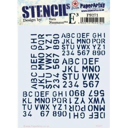 PaperArtsy - PA Stencil 271 {ESN}